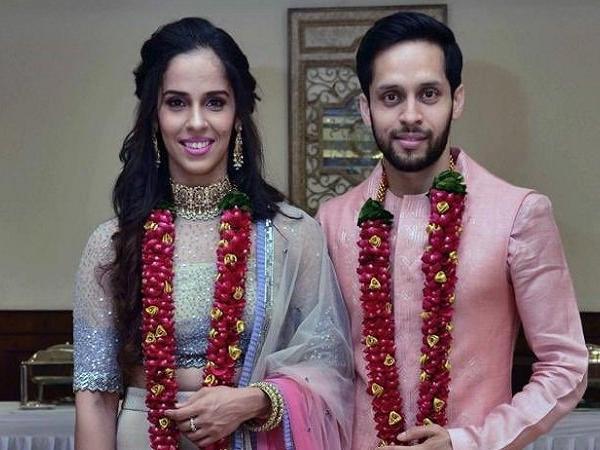 एक-दूजे के हुए साइना नेहवाल और पी. कश्यप, शादी की पहली तस्वीर आई सामने, देखें तस्वीरें