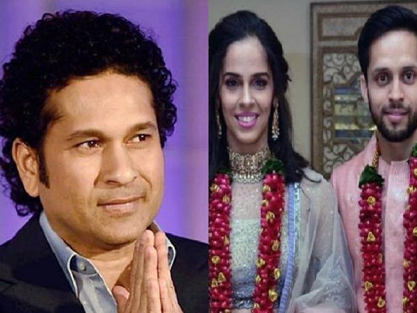 साइना नेहवाल को शादी की बधाई देने में सचिन तेंदुलकर से हुई बड़ी गलती, डिलीट करना पड़ा ट्वीट 3