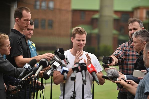 बॉल टेम्परिंग विवाद के आठ महीने बाद मीडिया के सामने आए 'स्टीव स्मिथ', वापसी पर कही ये बात 1
