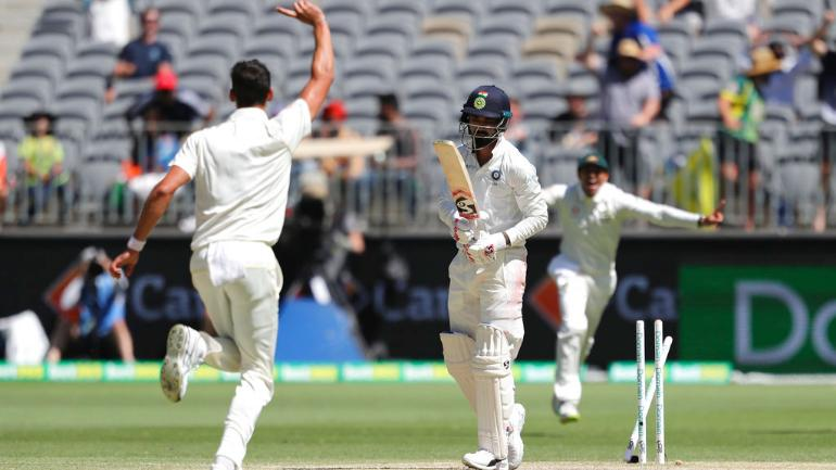 Perth Test: India lose 2 wickets for tea