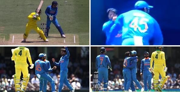 वीडियो: कुलदीप की गुगली में फंसा ये कंगारू बल्लेबाज, रोहित शर्मा का शानदार कैच 50