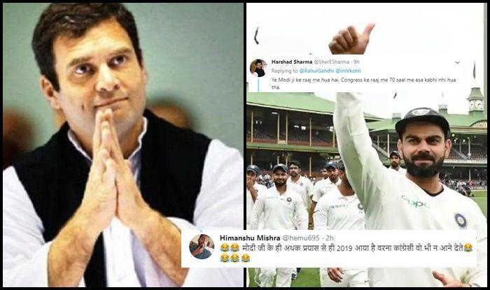 भारतीय टीम और विराट कोहली को बधाई देना राहुल गांधी को पड़ा महंगा, सोशल मीडिया पर बन रहा मजाक