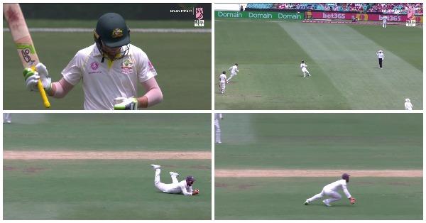 वीडियो: 51.4वें ओवर अजिंक्य रहाणे ने पकड़ा एक बेहद ही अविश्वसनीय कैच, कैच ऐसे जिसे देखने के बाद आपको नहीं होगा अपनी आँखों पर यकीन