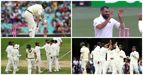 वीडियो:  84.3 ओवर में मोहम्मद शमी की इस आग उगलती गेंद पर चारो खाने चित हुए पैट कमिंस
