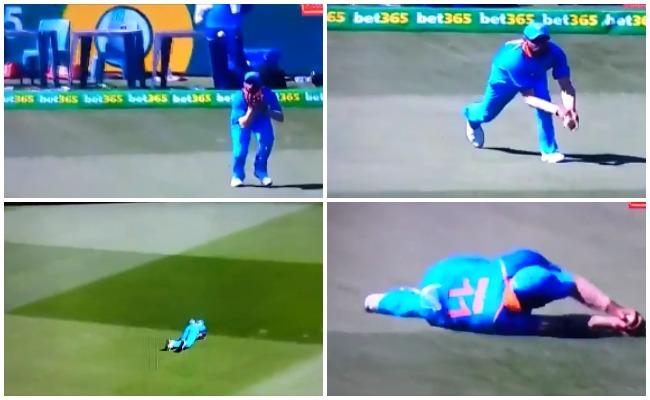 वीडियो: खूंटा गाड़कर खेल रहे थे 'शॉन मार्श' मोहम्मद शमी ने सुपरमैन बन लपका शानदार कैच 43