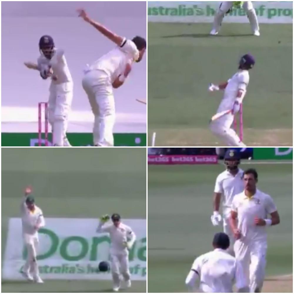 70.2 ओवर में मिचेल स्टार्क ने डाली ऐसा खतरनाक बाउंसर, रहाणे तो क्या दुनिया का कोई भी बल्लेबाज हो जाता आउट 12