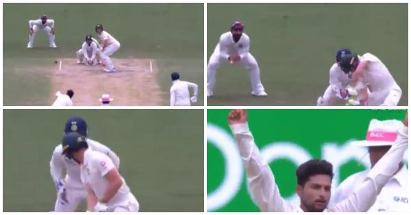 वीडियो : 68.6 ओवर में कुलदीप यादव ने कराई ऐसी गेंद, जिस पर टिम पेन हो गये चारों खाने चित