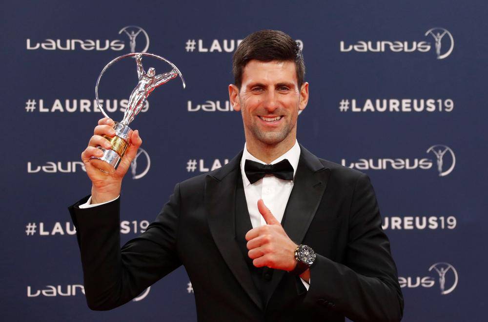 Djokovic, Bileys won Laureus Sports Award