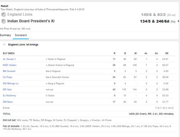 कप्तान ईशान किशन की बदौलत भारत ने इंग्लैंड लायंस को पहले ही मैच में दिया मात, देखें स्कोरबोर्ड 3