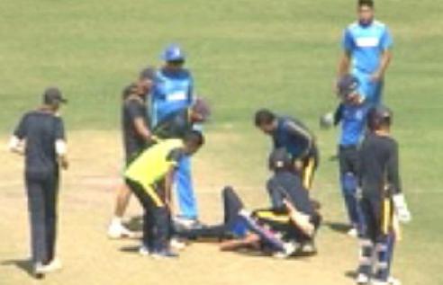 वीडियो : भारतीय टीम के इस खिलाड़ी के चेहरें पर लगी गेंद, दर्दनाक हादसे के बाद अस्पताल में भर्ती 2