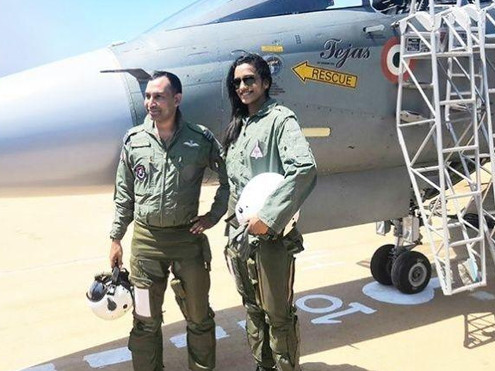PV Sindhu flew fighter aircraft in Tejas