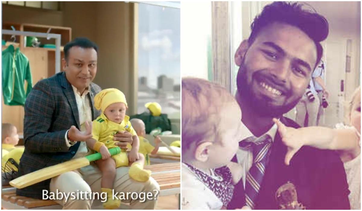 भारतीय विकेटकीपर ऋषभ पंत ने वीरेंद्र सहवाग के बेबीसिटर ऐड पर किया ट्वीट, मजाकिया अंदाज में कहा…