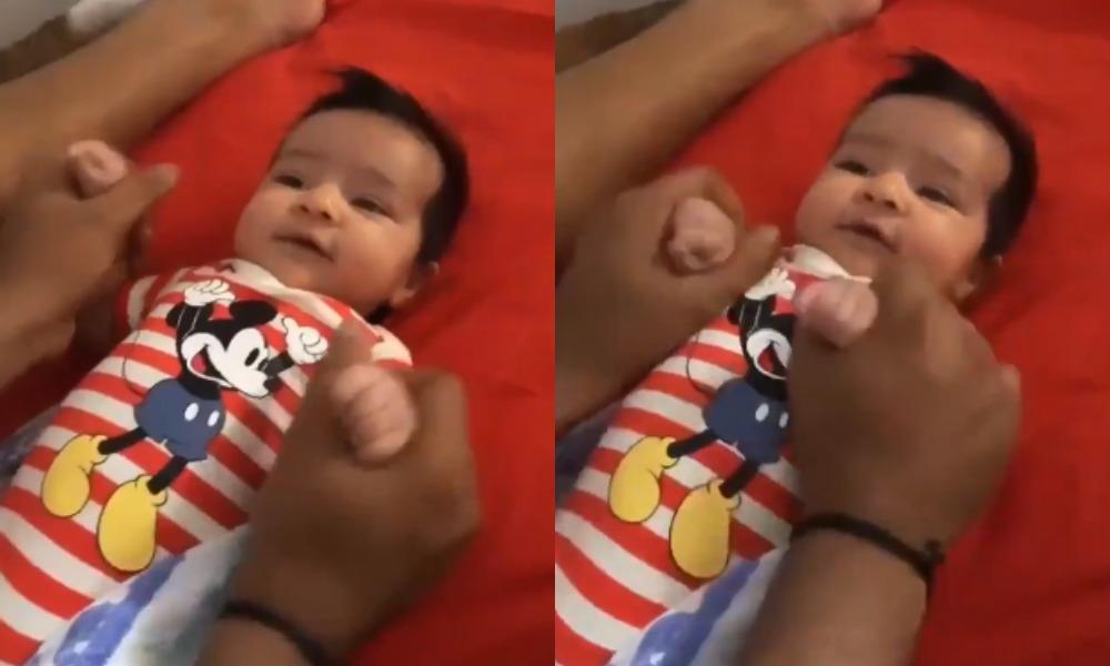 वीडियो: रोहित शर्मा ने पहली बार दुनिया को दिखाया अपनी बेटी समायरा का चेहरा