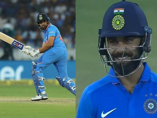 India vs Australia- वीडियो: रोहित शर्मा ने खेला ये अनोखा शॉट, देखने लायक था सामने खड़े विराट कोहली का रिएक्शन
