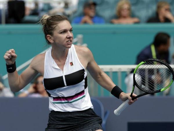 Tennis: Halep reaching pre-quarterfinals of Miami Open