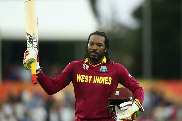 West Indies team wear jersey: Gale