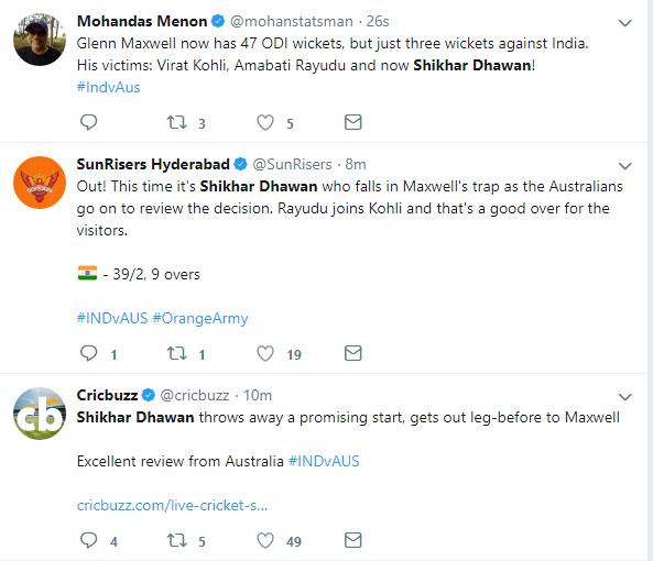 INDIA vs AUSTRALIA: शिखर धवन एक बार फिर हुए फ्लॉप, तो इस खिलाड़ी को टीम में शामिल करने की उठी मांग 3