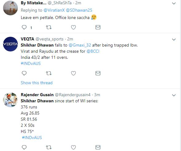 INDIA vs AUSTRALIA: शिखर धवन एक बार फिर हुए फ्लॉप, तो इस खिलाड़ी को टीम में शामिल करने की उठी मांग 5