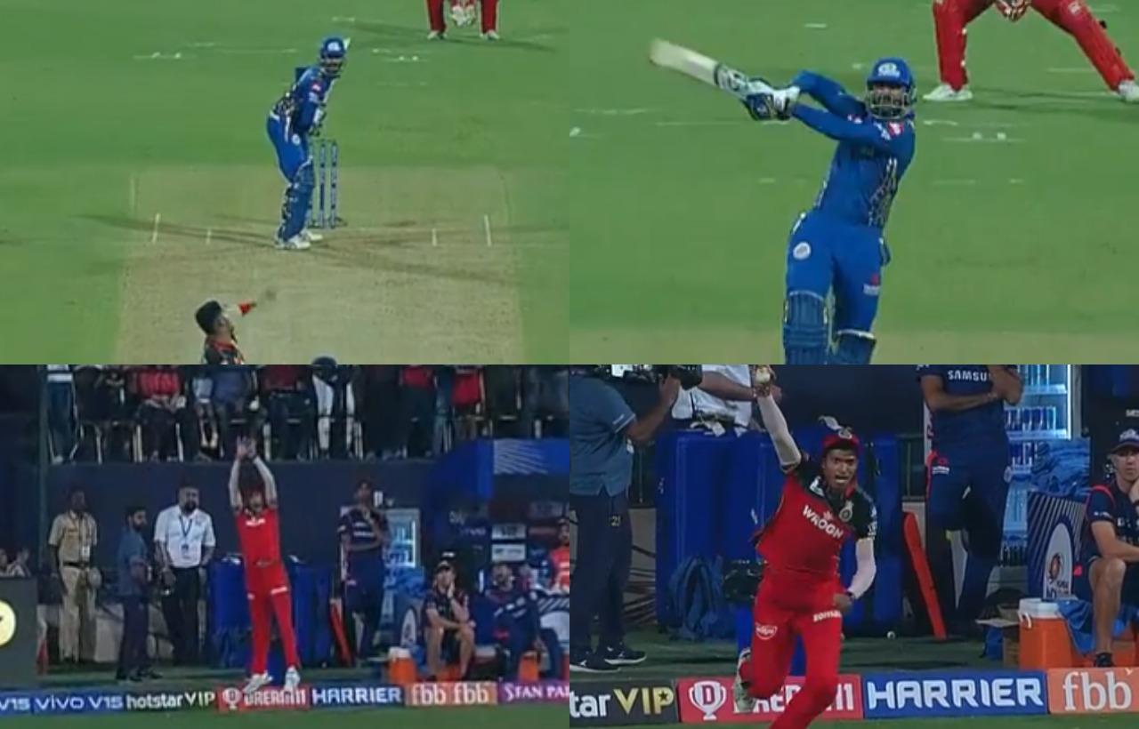 WATCH: नवदीप सैनी ने अपने आईपीएल करियर का सबसे बेहतरीन कैच लेकर क्रुनाल पांड्या को भेजा पवेलियन