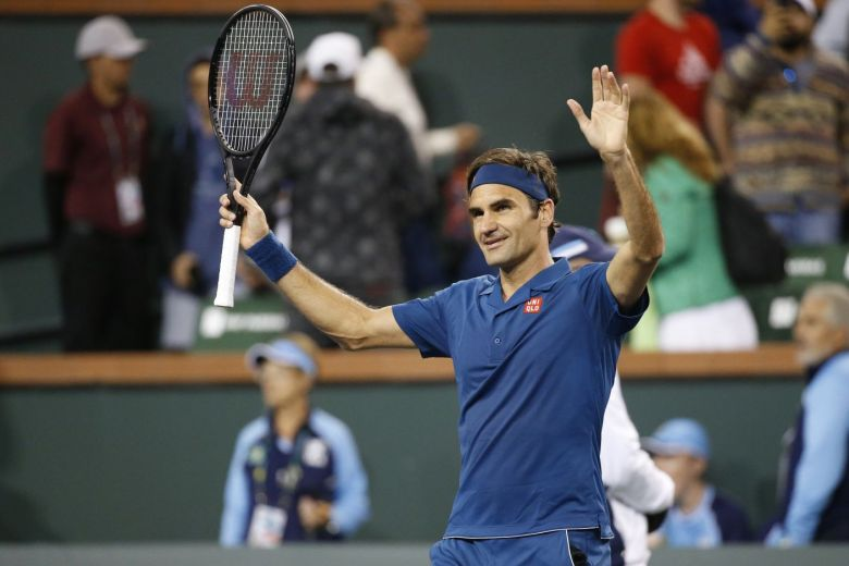 Tennis: Federer reached the quarter-finals of Indian Wells