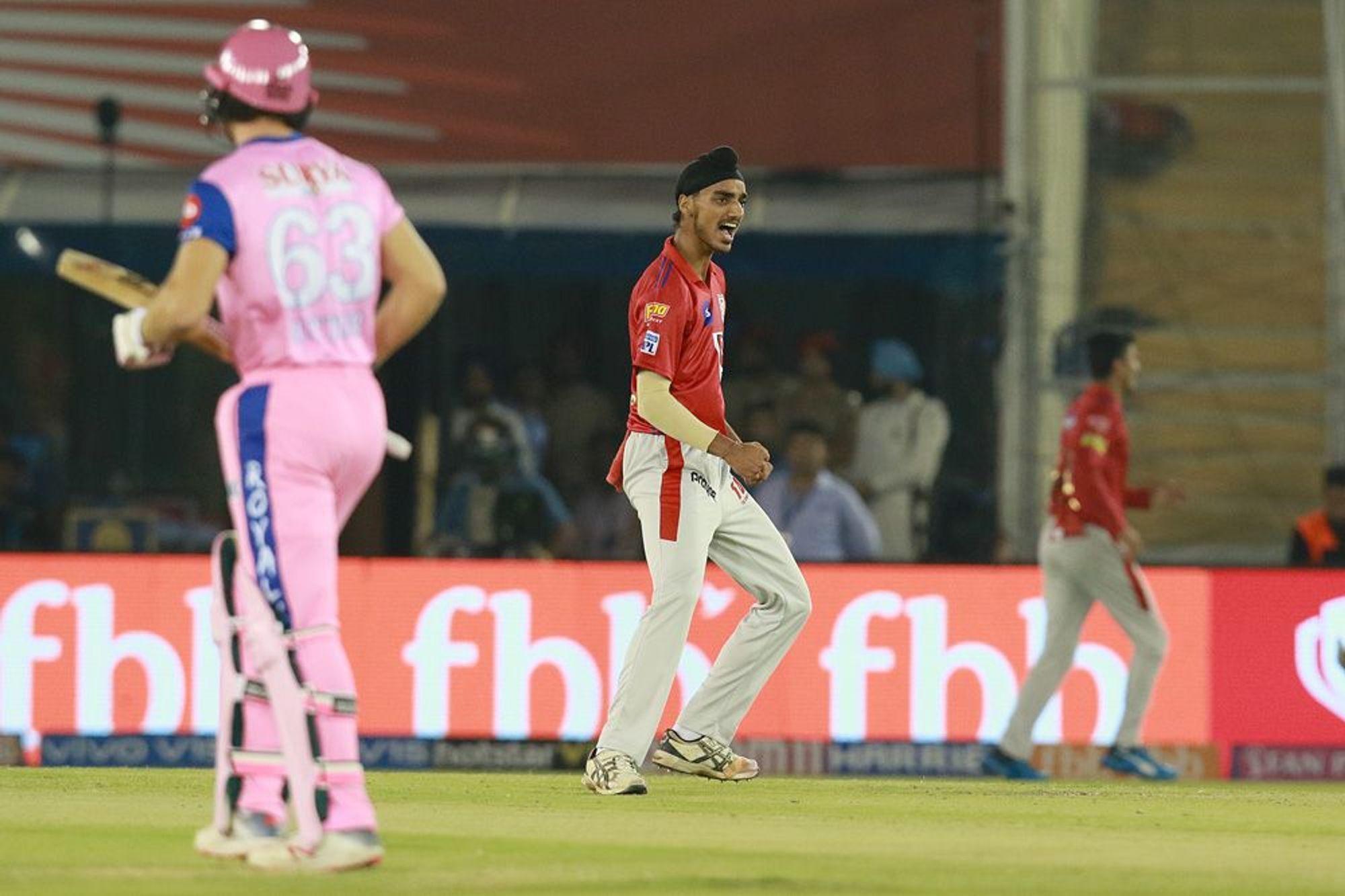 IPL 2019- जोस बटलर को अपने डेब्यू पर आउट करने के बाद 20 साल के अर्शदीप ने मनाया खास अंदाज में जश्न,