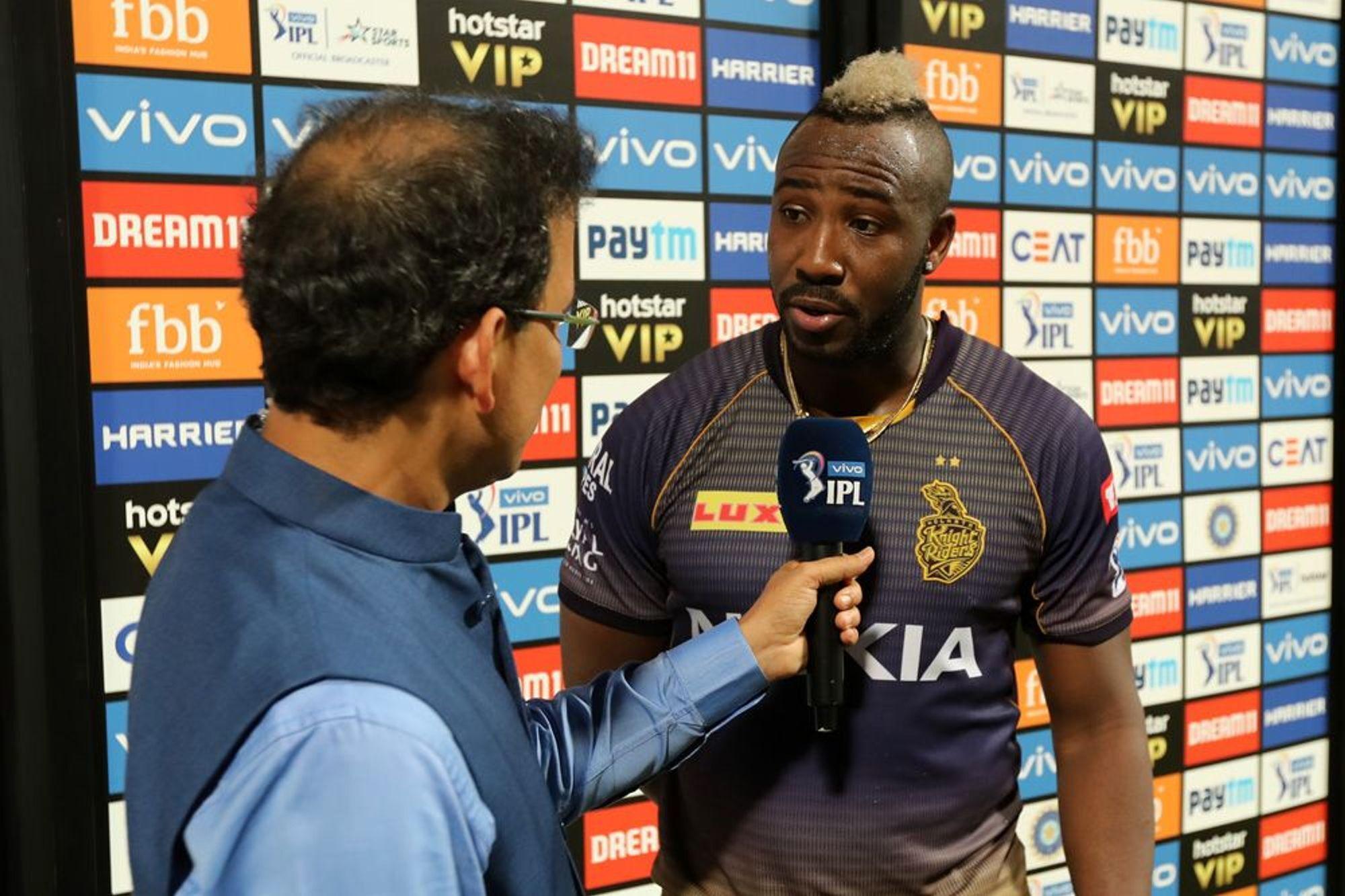 KKRvsMI : 'मैन ऑफ द मैच' आंद्रे रसेल ने बताया अपनी तूफानी बल्लेबाजी का असली राज