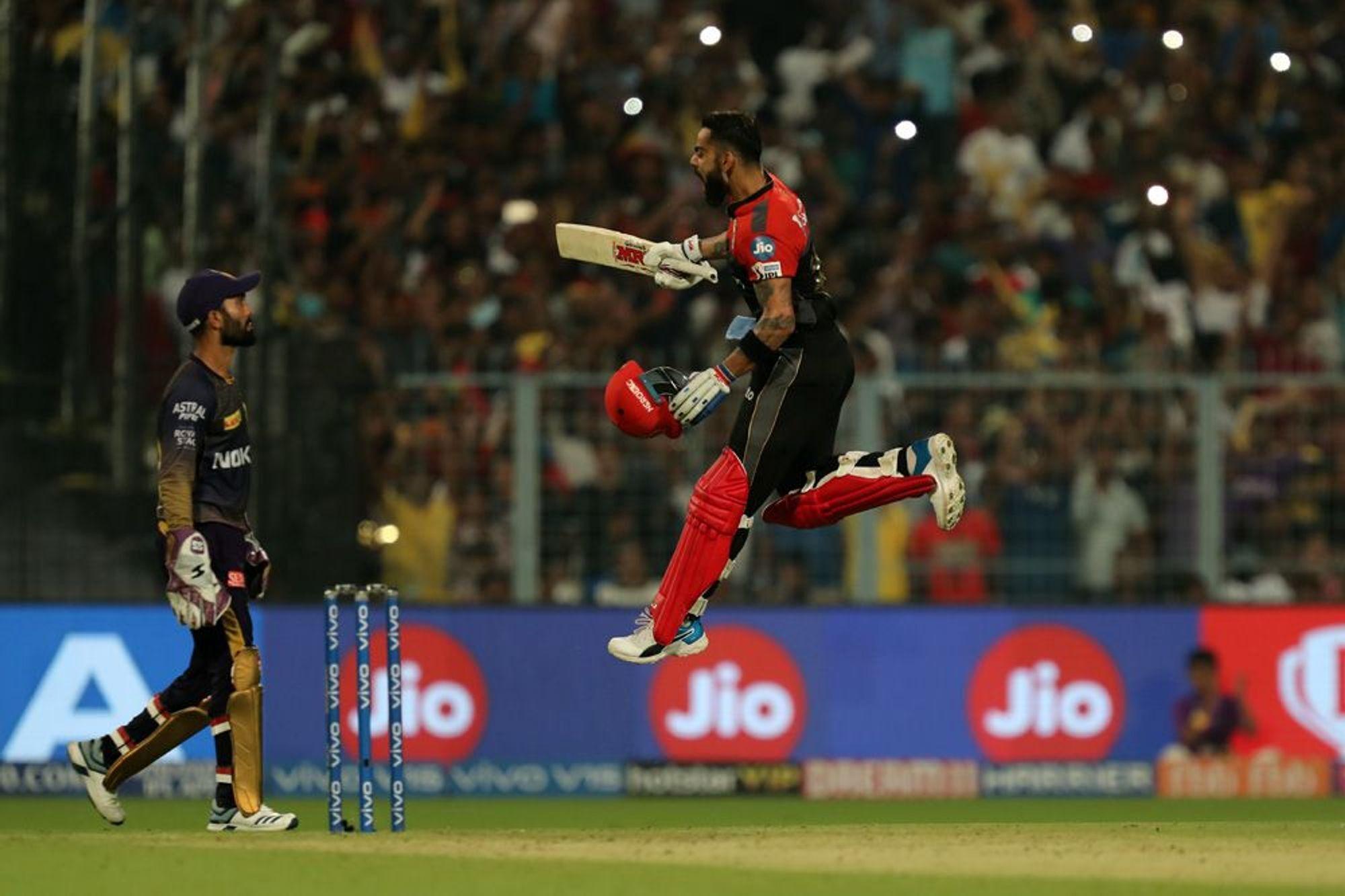 RCBvsKKR : मैच में बने 9 रिकॉर्ड, विराट कोहली ने बना डाले कई विश्व रिकॉर्ड