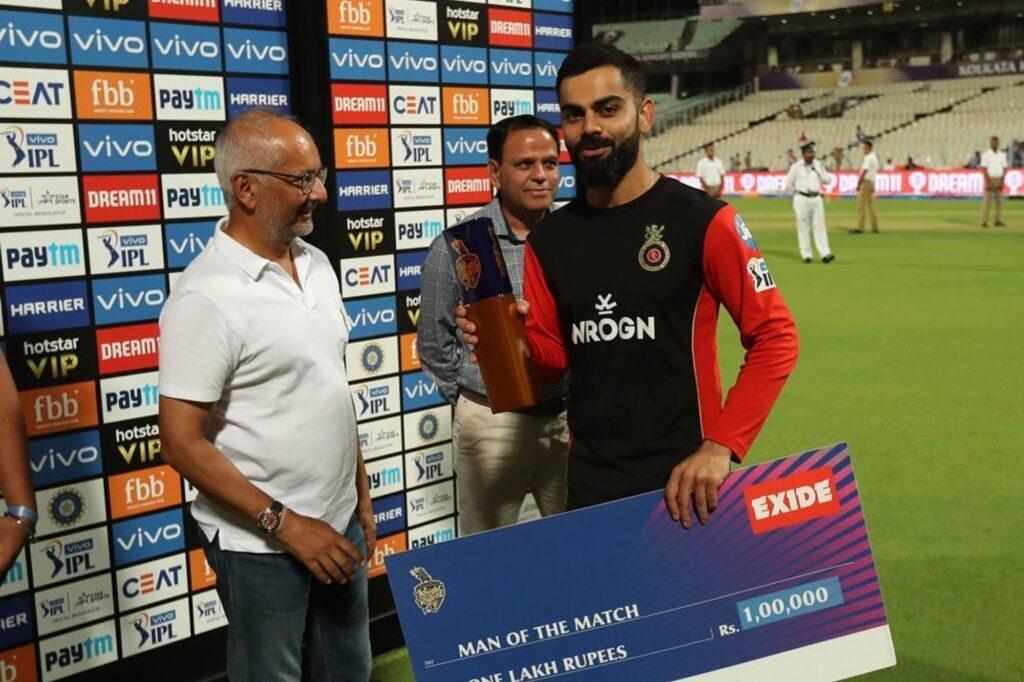RCBvsKKR : 'मैन ऑफ़ द मैच' विराट कोहली ने बड़ा दिल दिखाते हुए खुद को नहीं, बल्कि इस खिलाड़ी को दिया जीत का पूरा श्रेय 2
