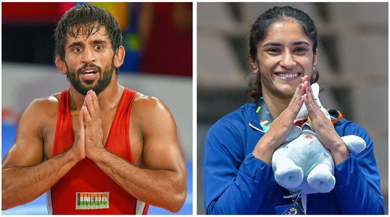 Bajrang, Vinesh's name proposed for sports gems