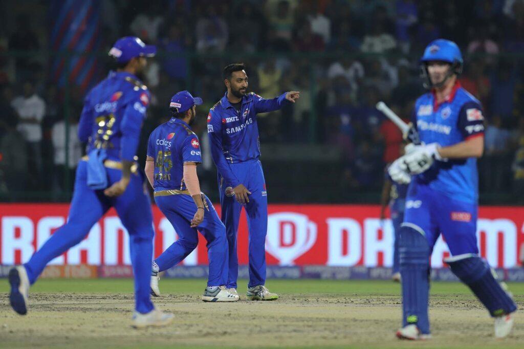 DCvsMI : हार्दिक पांड्या की तूफानी बल्लेबाजी के दम पर मुंबई ने दिल्ली को 40 रन से हराया 2