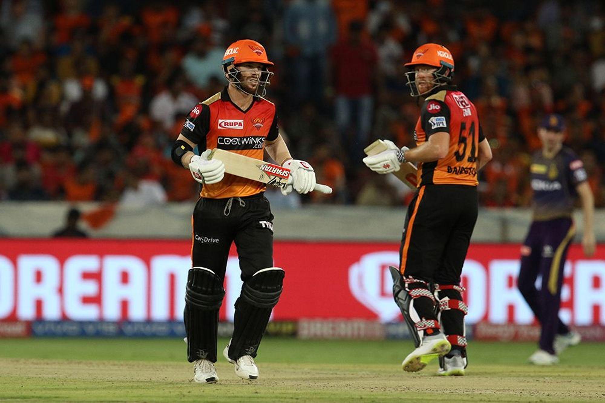 SRHvsKKR : वार्नर-बैरेस्टों के तूफ़ान में उड़ा केकेआर, सनराइजर्स ने 9 विकेट से हराया 27