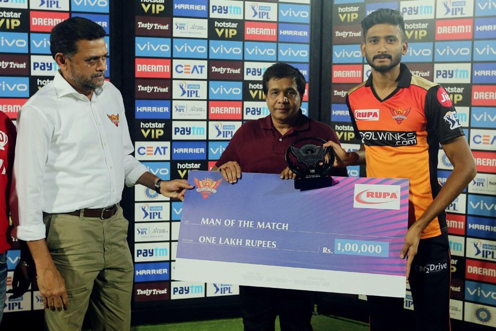 SRHvsKKR: खलील अहमद ने इन्हें समर्पित किया अपना पहला आईपीएल मैन ऑफ द मैच