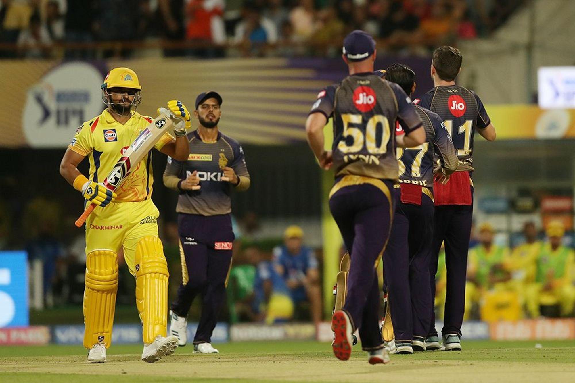 CSKvsKKR : रैना-जडेजा की दमदार पारियों के दम पर चेन्नई ने केकेआर को 5 विकेट से हराया 18