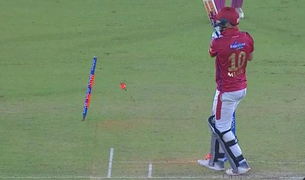 WATCH : डेविड मिलर के बोल्ड होने के बावजूद पंजाब टीम ने दौड़कर हासिल कर लिए 3 रन 1
