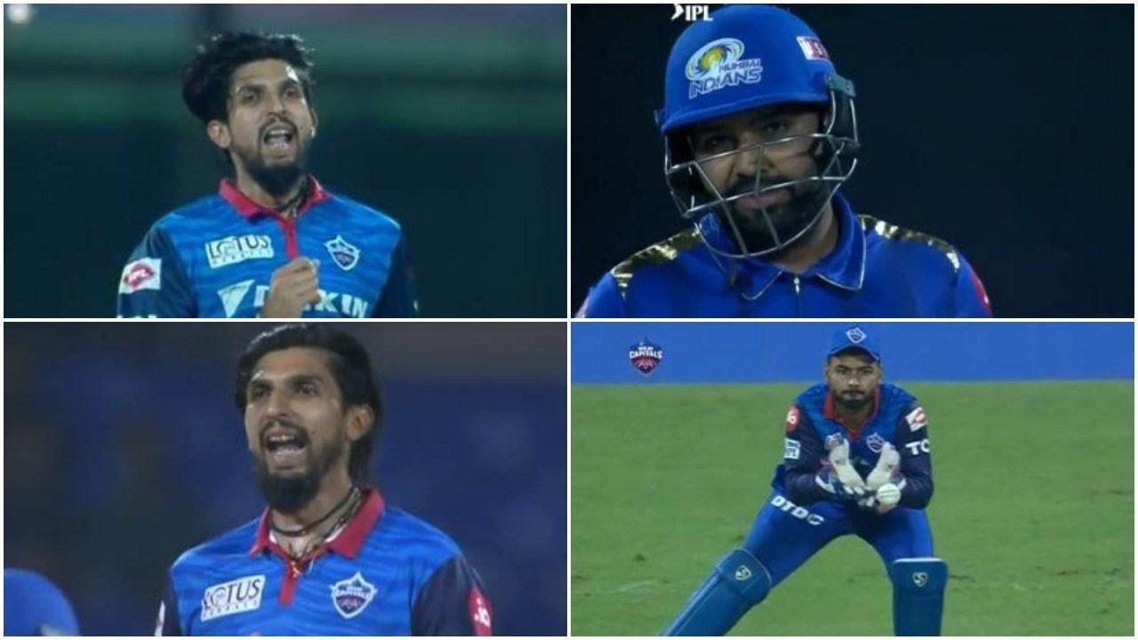 WATCH : इशांत शर्मा ने गेंद फेंकने के बाद रोहित शर्मा को उकसाया, फिर मिला ये जवाब