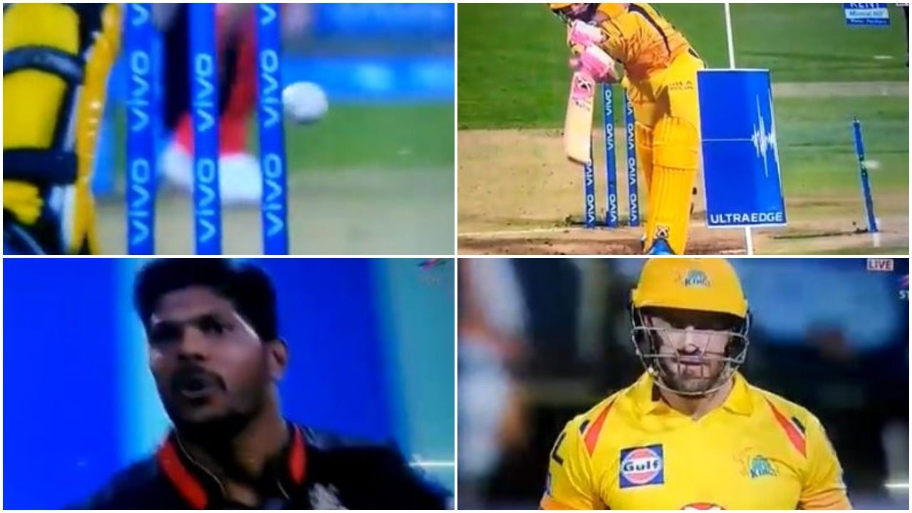 WATCH : उमेश यादव की गेंद स्टंप पर लगी, एक बार फिर से नहीं जली बेल्स 16