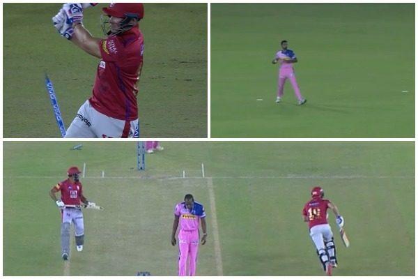 WATCH : डेविड मिलर के बोल्ड होने के बावजूद पंजाब टीम ने दौड़कर हासिल कर लिए 3 रन