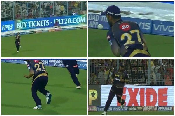 WATCH : 3.2 ओवर में नितीश राणा ने 3-4 बार गेंद उछालने के बाद किया पार्थिव पटेल का कैच