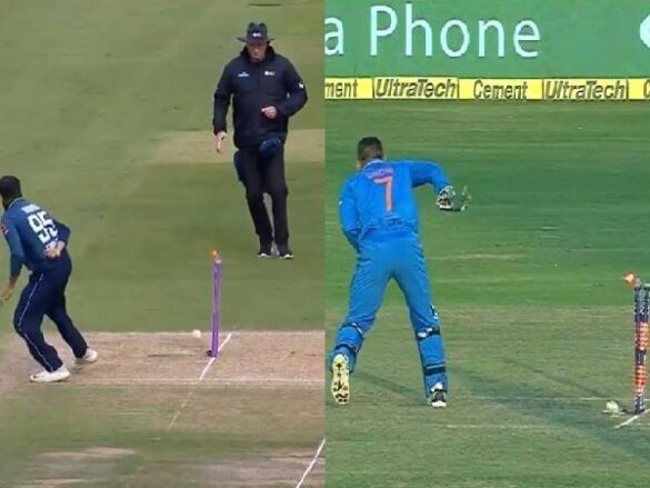 WATCH: पाकिस्तान के खिलाफ अंतिम वनडे में आदिल रशीद ने महेंद्र सिंह धोनी की तरह बिना देखे किया स्टम्प पर थ्रो 8