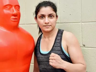 Whenever I fall into the ring, I want to live my dream of Mother: Simranjeet