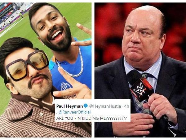 WWE चैंपियन रहे ब्रोक लैंसर के साथी पॉल हेयमैन ने रणवीर कपूर को लगाया फटकार, मुकदमा दर्ज करने की कही बात