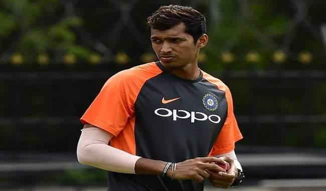 साउथ अफ्रीका के खिलाफ मैच से पहले भारतीय टीम से जुड़ने इंग्लैंड रवाना हुए नवदीप सैनी