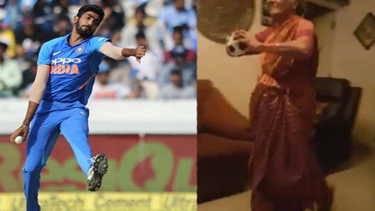 बूढी महिला प्रशंसक ने कॉपी किया जसप्रीत बुमराह का गेंदबाजी एक्शन तो बुमराह ने दिया ये जवाब