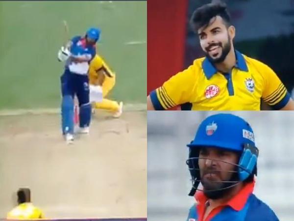 युवराज सिंह ने शादाब खान की गेंद पर लगाया फ्लैट सिक्स, वीडियो हुई वायरल