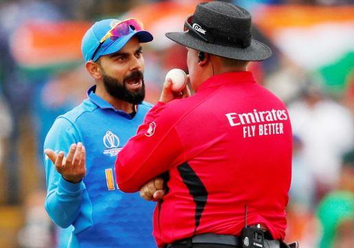World Cup 2019: फिर अंपायर से मैदान पर भिड़े कप्तान विराट कोहली अब हो सकते हैं वर्ल्ड कप से बाहर