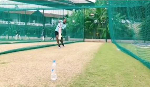 WATCH: शिखर धवन ने चोट के बाद पहली बार थामा बल्ला, विंडीज दौरे में हो सकते हैं शामिल 1