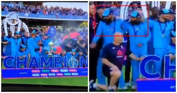 World Cup 2019: विश्व कप जीतने के बाद शैम्पेन से खिलाड़ी मनाने लगे जश्न, तब मोइन अली और आदिल रशीद ने जो किया वह रहा काबिले तारीफ 2