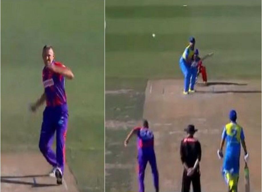 WATCH : दुनिया में हजारो गेंदबाज आये, लेकिन इस गेंदबाज जैसा एक्शन किसी का नहीं