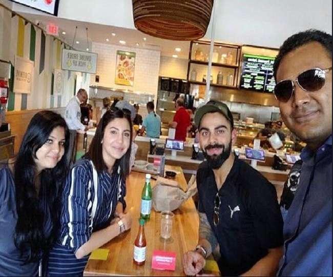 PHOTOS : रोहित के साथ विवाद के बीच अनुष्का शर्मा को वेस्टइंडीज दौरे पर ले गए विराट कोहली