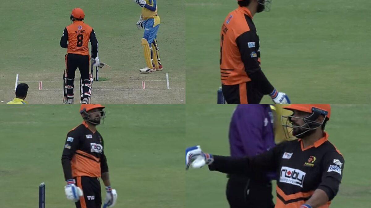WATCH: अश्विन की फिरकी पर बाएं हाथ से बल्लेबाजी कर मैदान पर ही डांस करने लगे मुरली विजय